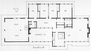 Plans for the Robert Brown House in Pittsford, NY