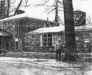 Don Hershey in front of his home in Penfield, NY