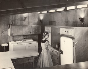Kitchen in Wing House on Golf Road designed by Don Hershey