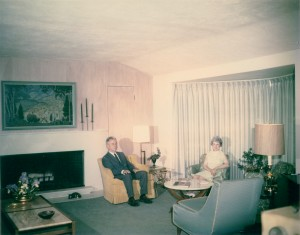 Don and Gladys Hershey in their living room at 5 Landing Road South