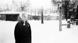 Daughter Jill in Snow Out Front of 145 Huntington Hills South in February 1958