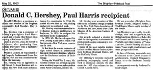 Don Hershey obituary