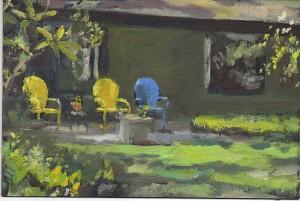 Painting of 145 Huntington Hills South by Jim Mott