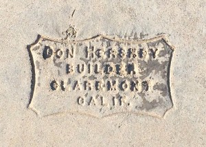 Driveway Stamp at 315 Teasdale Dr, Claremont, CA 91711