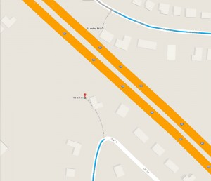 Google Map of Expressway between 106  Oak Lane and 5 South Landing Road